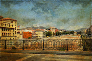 Malaga Framed Prints - Malaga. Bridge over Guadalamedina River. Spain Framed Print by Jenny Rainbow