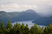 Sea Prints - MALAHAT MIST view across the islands from the Malahat Drive Print by Andy Smy