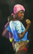 Award Winning Painting Originals - Malawi way by Shirley Roma Charlton