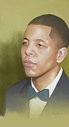 Carey Muhammad Paintings - Malcolm by Carey Muhammad