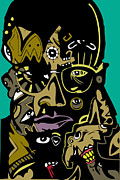Popstract Framed Prints - Malcolm X full color Framed Print by Kamoni Khem