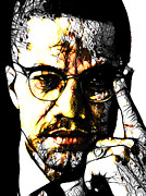 Activist Mixed Media Prints - Malcolm X Print by The DigArtisT