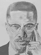 Malcom X Framed Prints - Malcom x Framed Print by Estelle BRETON-MAYA