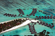 Indian Prints - Maldives aerial Print by Jane Rix