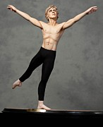 Male Sculpture Acrylic Prints - Male Dancer Acrylic Print by Vickie Arentz