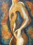 Single Figure Study Framed Prints - Male figure Framed Print by Lori McPhee