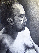 Austin Drawings - Male Model 2009 by Beverly Deutsch Adams