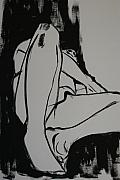 Nudes Drawings Originals - Male model by Joanne Claxton