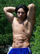 Muscleboy Art - Male Muscle Art Latino Youth  by Jake Hartz