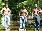 Fit Prints - Male Muscle Trio Print by Jake Hartz