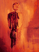 Nude Man Painting Prints - Male Nude 4 Print by Julie Lueders 