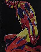 Nudes Originals - Male Nude In Primary Colours by Joanne Claxton