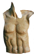 Figurative Sculpture Posters - Male torso Poster by Sarah Biondo