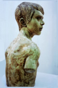 Realism  Sculpture Originals - Male Youth by Sarah Biondo