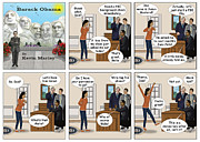 Barack Obama Digital Art Prints - Malia Going On Her First Date Print by Kevin  Marley