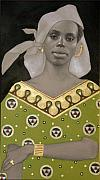 Gold Earrings Acrylic Prints - Malian Woman After Klimt Acrylic Print by Carla Nickerson