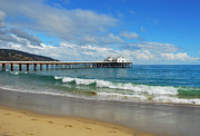 Lynn Bauer Photos Photo Prints - Malibu Pier Print by Lynn Bauer