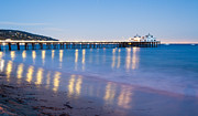 Malibu Lagoon Framed Prints - Malibu Pier Reflections Framed Print by Adam Pender