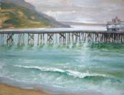 Malibu Painting Prints - Malibu Pier Print by Sharon Weaver