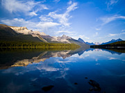 Maligne Lake Framed Prints - Maligne Lake And Maligne Range Framed Print by Zoltan Kenwell