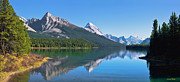 Azure Prints - Maligne Lake Print by Frank Wicker