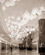 Chandelier Prints - Mall Entrance Hall Print by Yali Shi