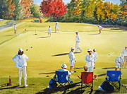 Game Painting Prints - Mallet Masters Print by Shirley Braithwaite Hunt