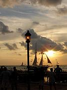 Landmarks Framed Prints - Mallory Square Key West Framed Print by Susanne Van Hulst