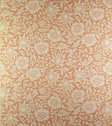 Flower Tapestries - Textiles Prints - Mallow wallpaper design Print by William Morris