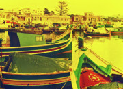 Maltese Photos - Maltese Fishing Village by Elizabeth Hoskinson