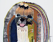 Dog Art Mixed Media Metal Prints - Maltese  Metal Print by Michel  Keck