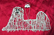 Wire Sculpture Sculptures - Maltese ornament by Charlene White