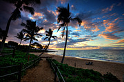 Beach Photograph Prints - Maluaka Sunset Print by James Roemmling