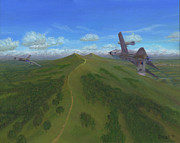 Jet Painting Originals - Malvern Chase by Pib