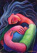 Sweet Pastels Prints - Mama Mama O How I Miss How You Hold Me Print by Angela Treat Lyon