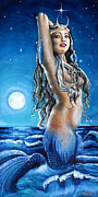 Yemaya Paintings - Mama Ocean by Mani Price