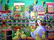 Canals Framed Prints - Mamas Got Her Work Cut Out.  Framed Print by Frank Strasser