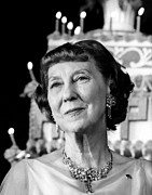 Featured Acrylic Prints - Mamie Eisenhower At An Early Party Acrylic Print by Everett