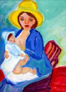 Mamma Metal Prints - Mamma and Babe Metal Print by Anna Angelou