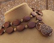 Wood Jewelry - Mammas Purse Strings by Cara McMannis