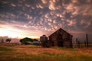 """blue Sunset"" Prints - Mammatus Kansas Print by Thomas Zimmerman"