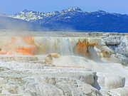 Yellowstone Mixed Media - Mammoth Hot Springs by Photography Moments - Sandi