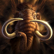 Ivory Digital Art Prints - Mammoth Print by Jerry LoFaro