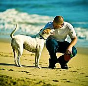 Dog Photo Originals - Man and Friend by Marius Sipa