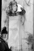 Grave Photos - Man at the Grave of Johannes Brahms by Todd Fox
