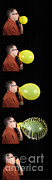 Water Vapor Prints - Man Bursting A Balloon Print by Ted Kinsman