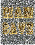 Valuable Mixed Media Metal Prints - Man Cave Coin Mosaic Metal Print by Paul Van Scott