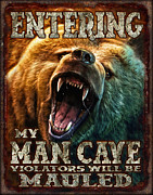 Growling Painting Prints - Man Cave Print by JQ Licensing