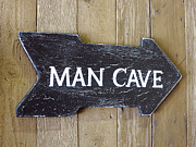 Macho Man Prints - Man Cave Sign Print by Geri Lavrov