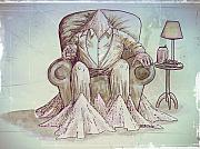 Criticism Mixed Media Prints - Man Deteriorating Print by Paulo Zerbato